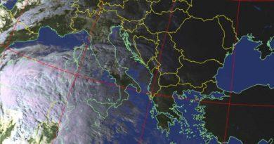 Ecco la perturbazione vista dal satellite NOAA-19: atteso ulteriore peggioramento dalle prossime ore e nella giornata di domenica