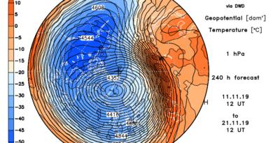 Stratosfera: intensificazione con successivo warming